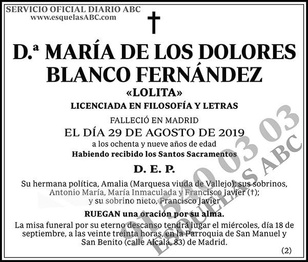 María de los Dolores Blanco Fernández