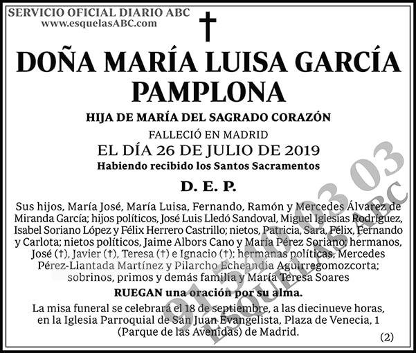 María Luisa García Pamplona