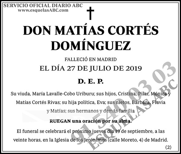 Matías Cortés Domínguez