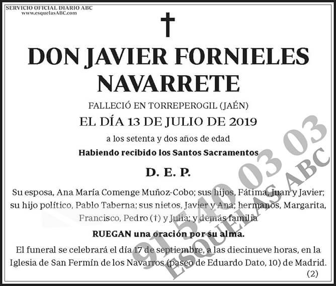 Javier Fornieles Navarrete