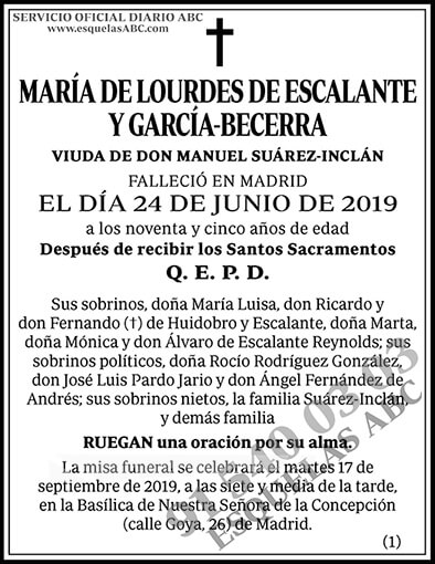 María de Lourdes de Escalante y García-Becerra