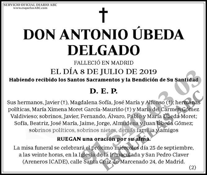 Antonio Úbeda Delgado