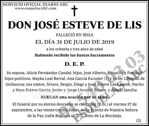 José Esteve de Lis