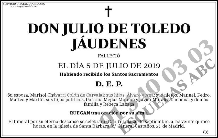 Julio de Toledo Jáudenes