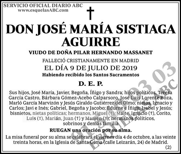 José María Sistiaga Aguirre