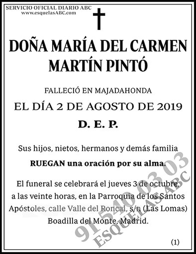 María del Carmen Martín Pintó