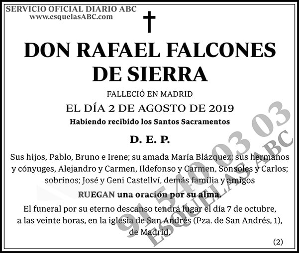 Rafael Falcones de Sierra