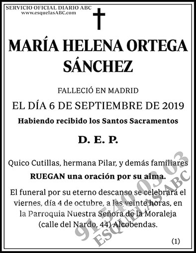 María Helena Ortega Sánchez