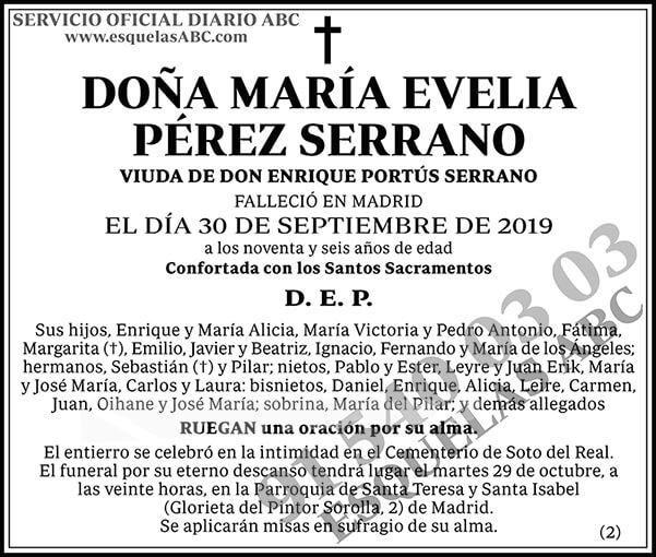 María Evelia Pérez Serrano