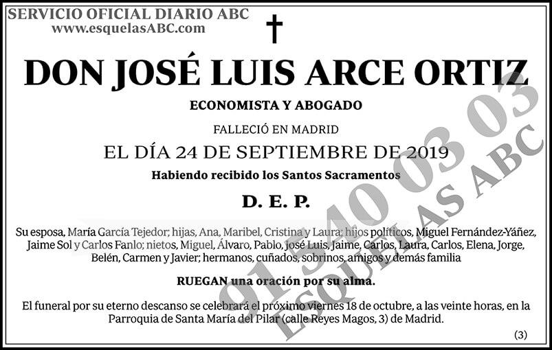 José Luis Arce Ortiz