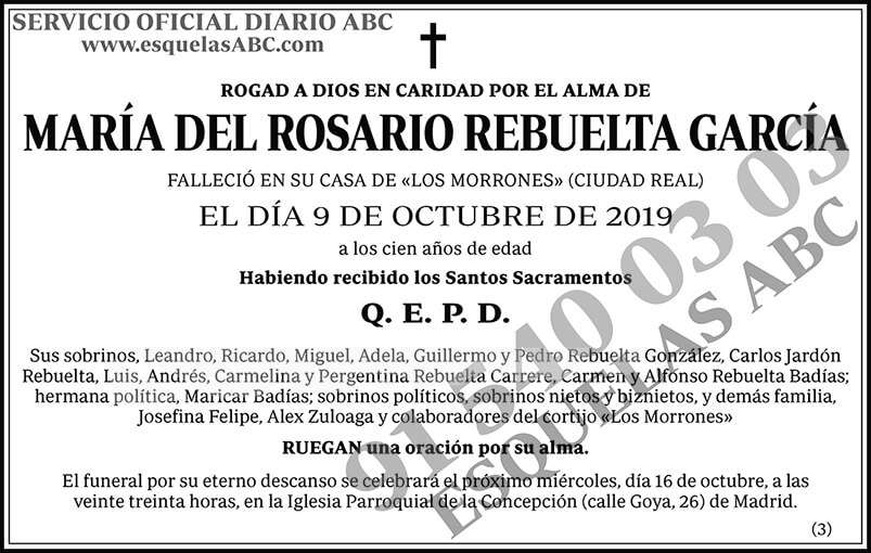 María del Rosario Rebuelta García
