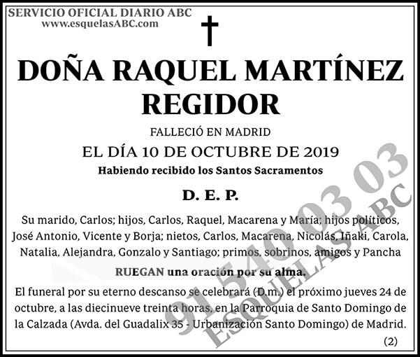 Raquel Martínez Regidor