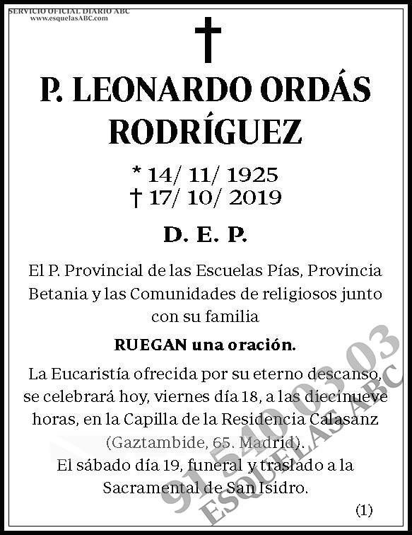 Leonardo Ordás Rodríguez