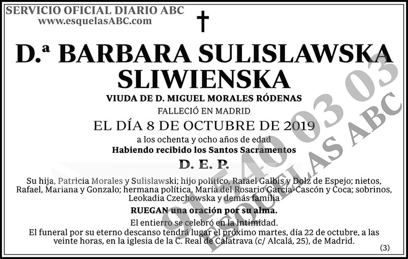 Barbara Sulislawska Sliwienska
