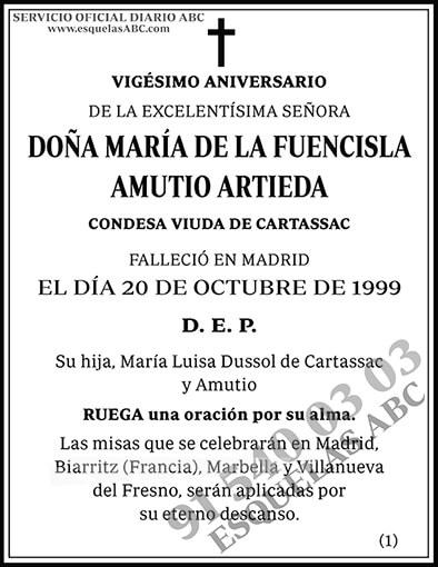 María de la Fuencisla Amutio Artieda