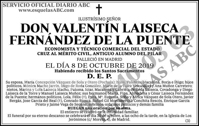 Valentín Laiseca Fernández de la Puente
