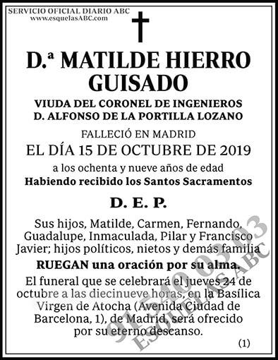 Matilde Hierro Guisado