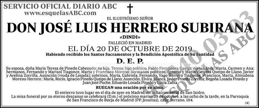 José Luis Herrero Subirana
