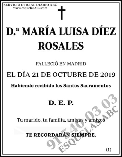María Luisa Díez Rosales