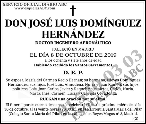 José Luis Domínguez Hernández