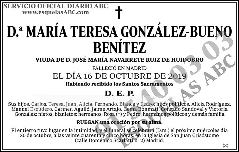 María Teresa González-Bueno Benítez