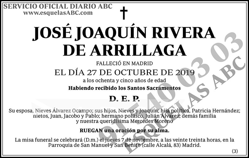José Joaquín Rivera de Arrillaga