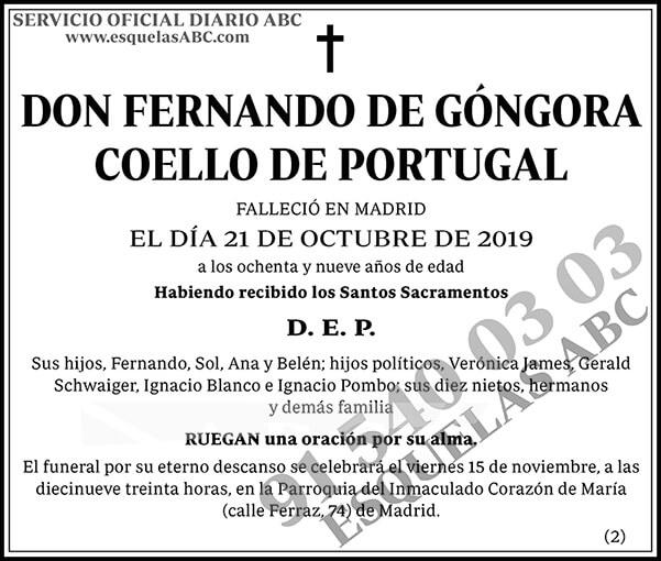 Fernando de Góngora Coello de Portugal