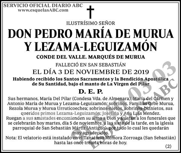 Pedro María de Murua y Lezama-Leguizamón