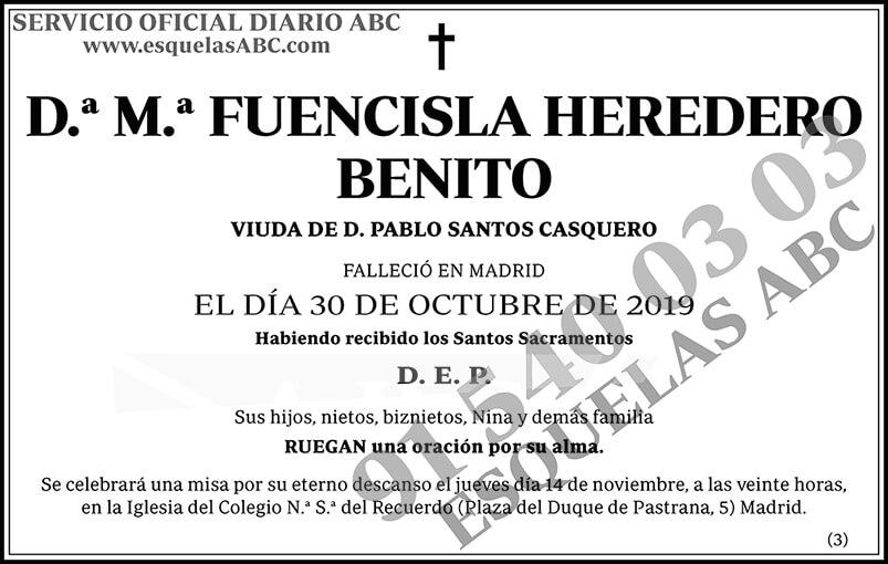 M.ª Fuencisla Heredero Benito