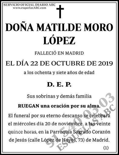 Matilde Moro López