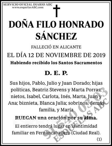 Filo Honrado Sánchez