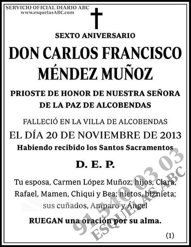 Carlos Francisco Méndez Muñoz