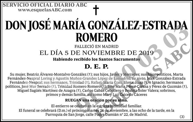 José María González-Estrada Romero