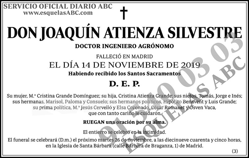Joaquín Atienza Silvestre