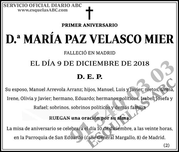 María Paz Velasco Mier