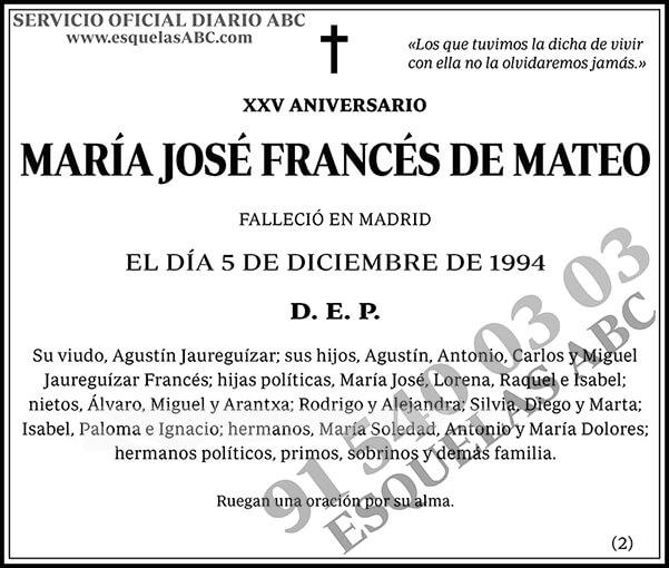 María José Francés de Mateo