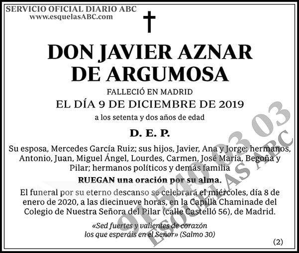 Javier Aznar de Argumosa
