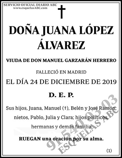 Juana López Álvarez