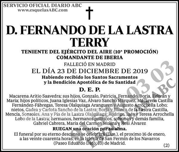 Fernando de la Lastra Terry