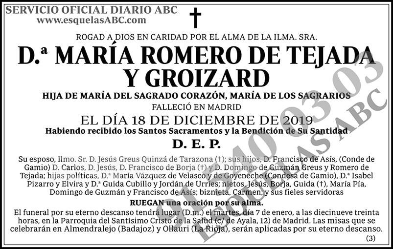 María Romero de Tejada y Groizard