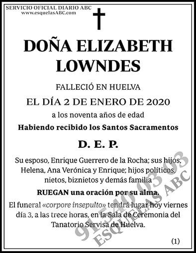 Elizabeth Lowndes