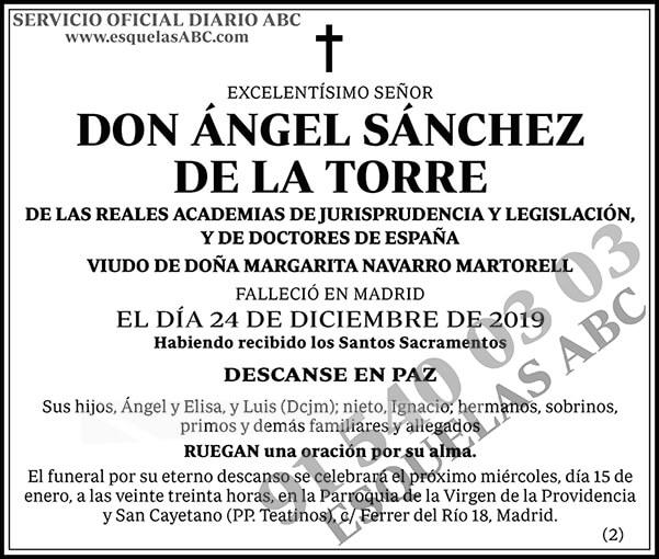 Ángel Sánchez de la Torre