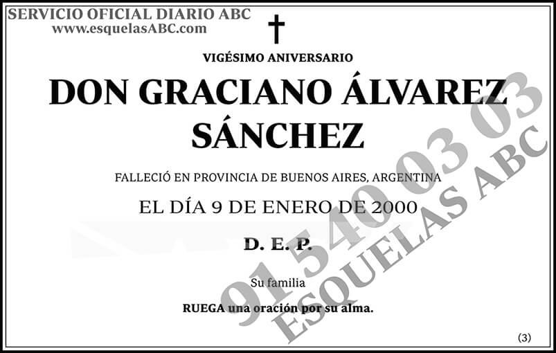 Graciano Álvarez Sánchez