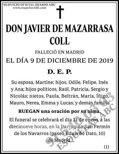 Javier de Mazarrasa Coll