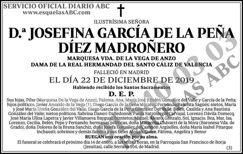 Josefina García de la Peña Díez Madroñero