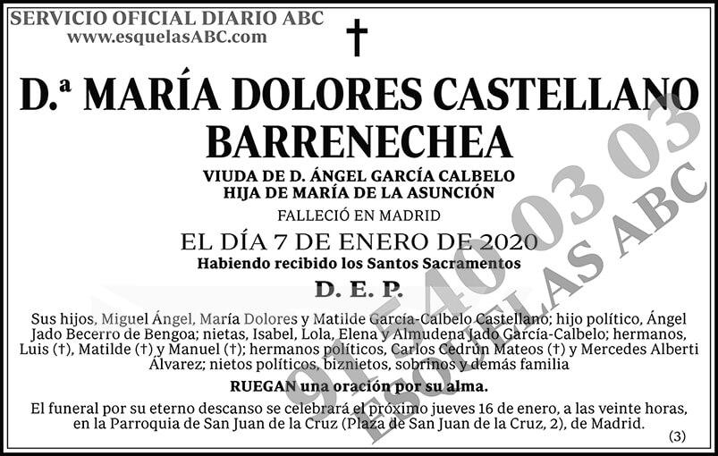 María Dolores Castellano Barrenechea