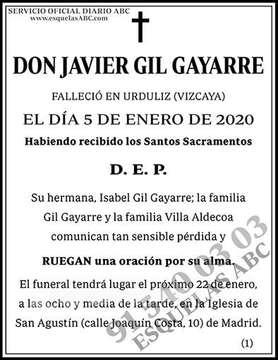 Javier Gil Gayarre
