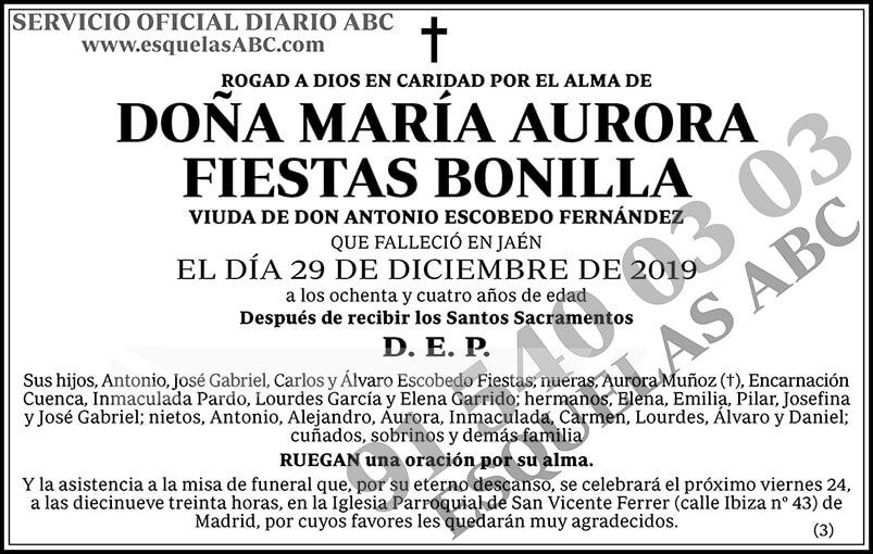 María Aurora Fiestas Bonilla