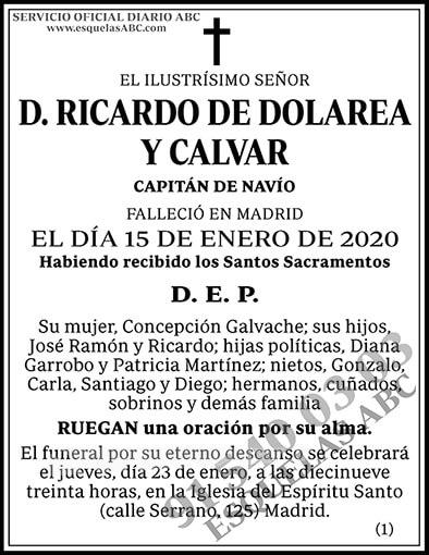 Ricardo de Dolarea y Calvar