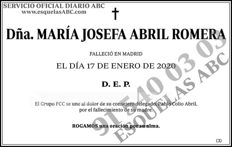 María Josefa Abril Romera